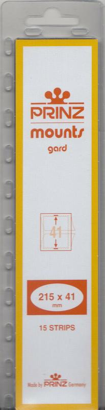 PRINZ CLEAR MOUNTS 215X41 (15) RETAIL PRICE $7.99