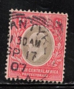 BRITISH CENTRAL AFRICA Scott # 70 Used - KEVII