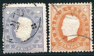 Portuguese India 179-80, Used F/VF 1886 SCV $9.25