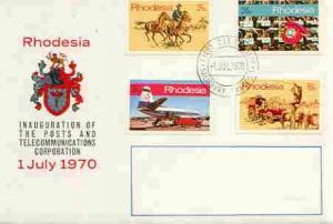 Rhodesia 1970 Inauguration of Posts & Telecommunicati...