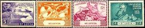 UPU, Universal Postal Union 75th Anniv, St Lucia SC#131-134 MNH set