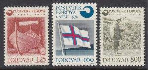 Faroes 21-3 Postal Service mnh