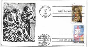 US, 2107-2108, FDC, HOLY FAMILY PLAQUE,  HANDCRAFT CACHET