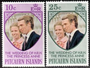 Pitcairn Islands Scott 135-36  complete set  F to VF mint OG NH.