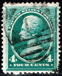 US STAMP #211 – 1883 4c Jackson XFS SUPERB
