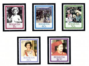 Bermuda 499-503 MNH 1986 QEII 60th Birthday