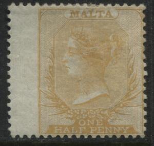 Malta QV 1870 1/2d dull orange mint o.g.