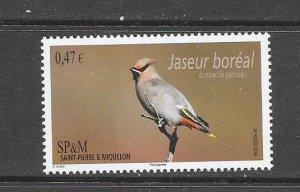 BIRDS - ST PIERRE and MIQUELON #992  MNH