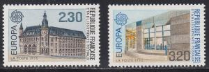 France # 2218-2219, Europa - Post Office Buildings, NH, 1/2 Cat.