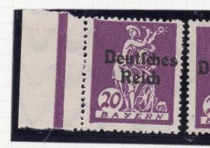 Germany 1920 Bayern Early Issue Fine Mint Hinged 20pf. Optd 250370