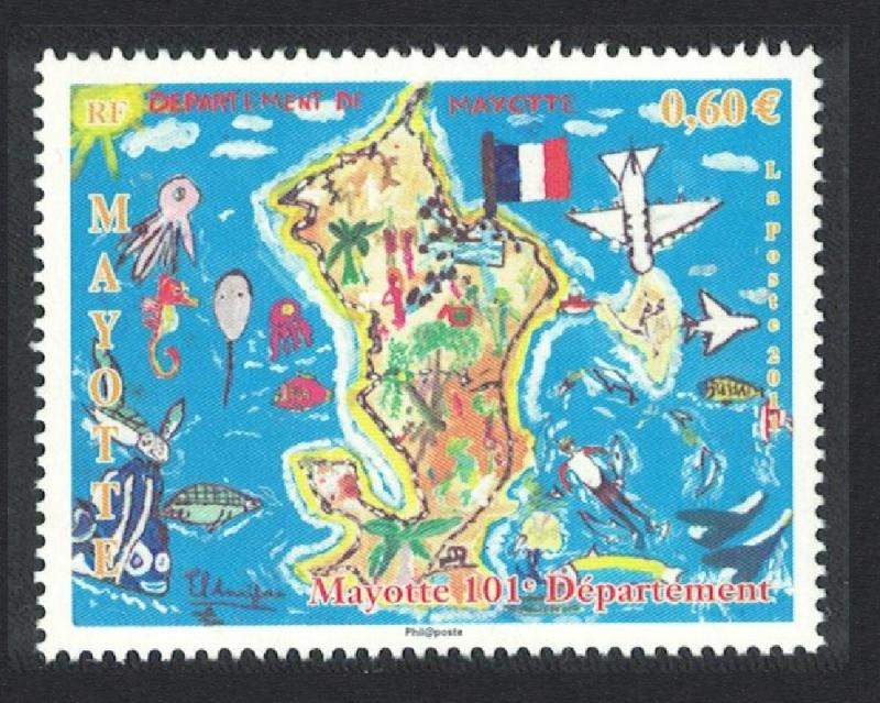Mayotte Department Mayotte 1v MI#260