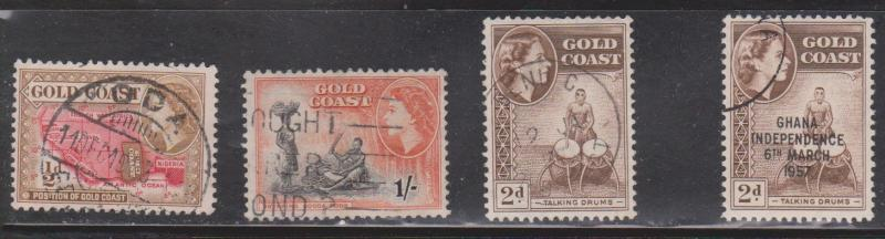 GOLD COAST / GHANA Selection Of Used Stamps - QEII
