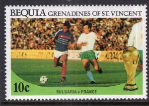 St Vincent Grenadines Bequia 221 Soccer MNH VF