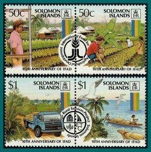 Solomon Islands 1988 Agricultural Development, MNH #607-610,SG614-SG617