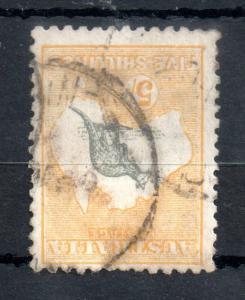 Australia 1915 5/- Roo 3rd WMK SG#42 fine used WS13459
