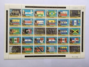 PANAMA 1980 Flags Two Sheets Olympics Moscow Lake Placid MNH