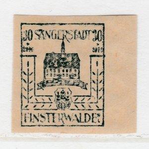 Finsterwalde WWII Germany World War II Local Stamp 1946 30+20pf MNH** A20P4F190