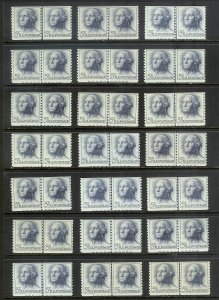 UNITED STATES (26) Sc#1229 Coil Line Pairs w/plate numbers ALL Mint Never Hinged