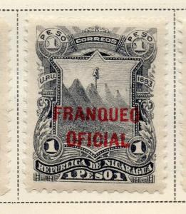 Nicaragua 1893 Early Issue Fine Mint Hinged 1P. Official Optd 323723