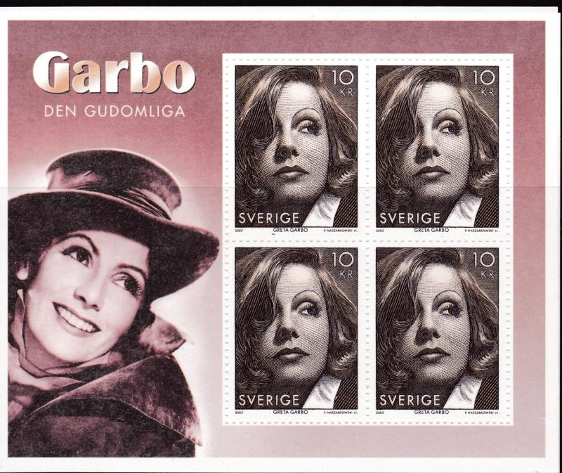 Sweden 2005 Post Office Fresh Greta Garbo Sheet.. VF/NH
