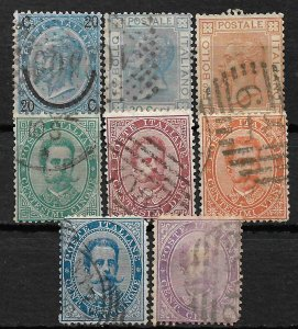 COLLECTION LOT OF 8 ITALY STAMPS 1865+ CV + $43