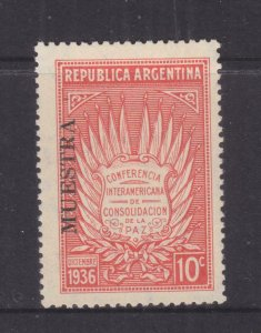 ARGENTINA, 1936 Pan American Peace Conference, MUESTRA, lhm.