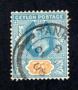 Ceylon #190,  F/VF, Used, CV $8.25 ....  1290156