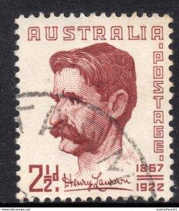 1949 Australia MIchel no. 197 ~ SG no. 231 ~ Scott no. 222 Henry Hertzberg Lawso