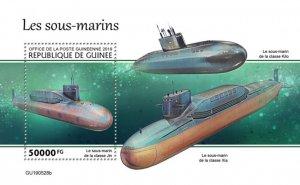 GUINEA - 2019 - Submarines - Perf Souv Sheet - M N H