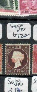 GAMBIA  (P2308BB) QV  4D  SG  45A    RED CDS   VFU