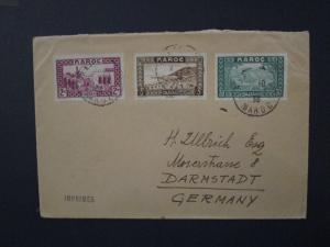 French Morocco 1930s Cover to Germany - Z3979