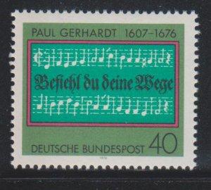 Germany,  40pf Hymn (SC# 1215) MNH
