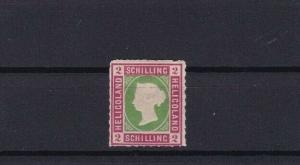 HELIGOLAND 1867 2 sch UNUSED ROULETTE STAMP CAT £65 CONDITION SHOWN REF 6160