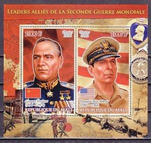 Mali, 2012 issue. War Leaders. D. Mac Arthur & G. Zhukov s/sheet. ^