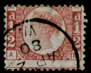 SG48, ½d rose-red PLATE 15, USED, CDS. Cat £42. AM