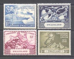 Swaziland Scott 50/53 - SG48/51, 1949 UPU Set MH*