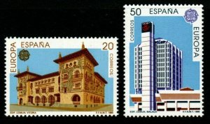 SPAIN SG3060/1 1990 EUROPA POST OFFICE BUILDINGS MNH