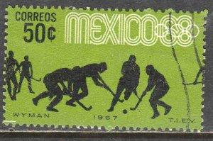 MEXICO 983, 50¢ Hockey 3rd Pre-Olympic Set 1967. Used. VF. (644)