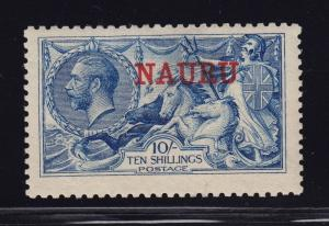 Nauru Scott # 15e with certificate VF OG lightly hinged cv $ 575 ! see pic !