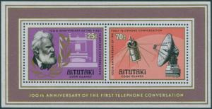 Aitutaki 1977 SG220 Telephone MS MNH