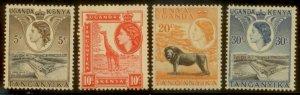 KUT 1953 SC# 103-4,107-8 MNH L156