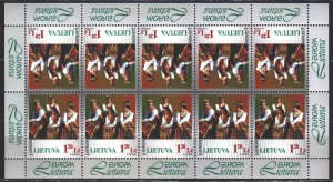 Lithuania. 1998. Small sheet 664. National costumes, europe-sept. MNH.