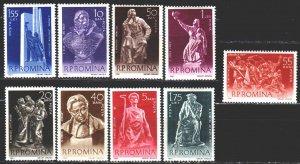 Romania. 1961. 1942-50. Sculptures. MVLH.