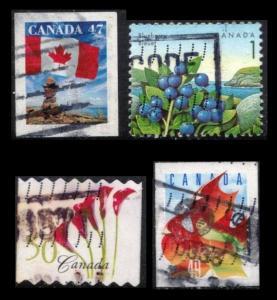 CANADA 47c #1700, 1c #1352, 50c #2072, 49c #2053, 4 STAMPS
