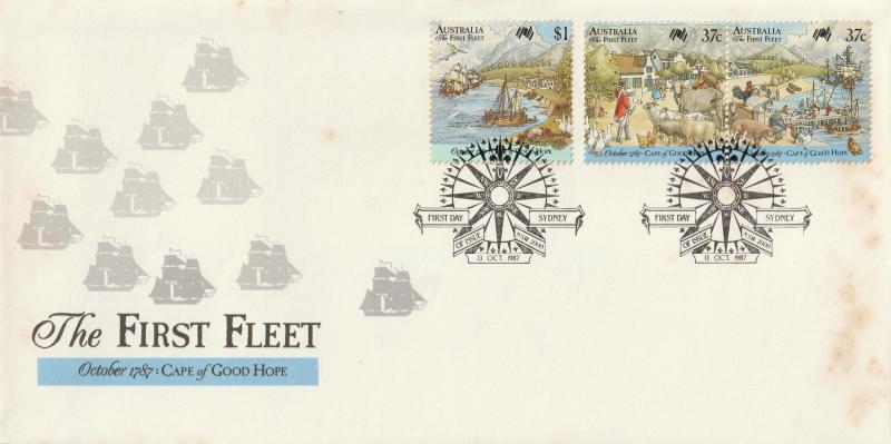 Australia 1987 The First Fleet October 1787 Cape of Good Hope FDC Sc#1028a-b&29