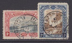 British Guiana, Scott 152-153 (SG 216-217), used
