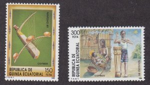 Equatorial Guinea #  138-139, Christmas - Musical Instruments, NH, 1/2 Cat.