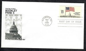 2116 Flag over Capitol booklet single Unaddressed Artmaster FDC