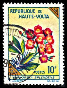 Upper Volta 119, used, Spurge Flower