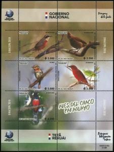 Paraguay 2018  birds nice klb MNH